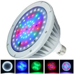 Waterproof Color Changing LED Pool Light free Gasket-5 Years