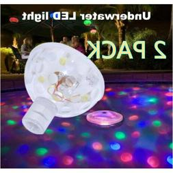 2 PACK Floating Underwater LED Disco Light Glow Show Swimmin