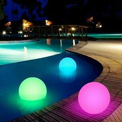 20-40cm Floating LED Ball w/ Remote Outdoor Swimming Pool Wa