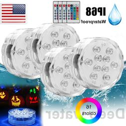 4-Pack Submersible LED Bulb Underwater Light Fountain Swimmi