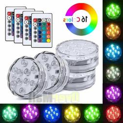 4 Piece Waterproof Underwater Led Lights with remote for Swi