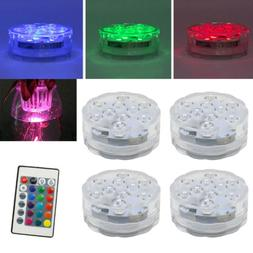 4PC Swimming Pool Light RGB LED Bulb Underwater Color Vase D