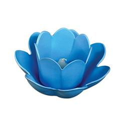 """8.5"""" Blue Floating Enchanting Blossom Light with Votive Cand"""