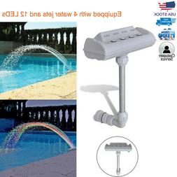 Cascade Waterfall Swimming Pool Fountain Jets Colorful LED L