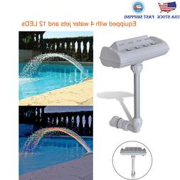 Cascade Waterfall Swimming Pool Fountain Jets LED Lights Col