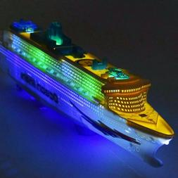 Colorful Pool Ship RC Boat Ocean Liner Electric Flashing LED
