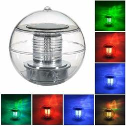 Floating Ball Pool Light Solar Powered Waterproof Changing L
