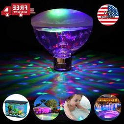 Floating Underwater LED LampDisco Light Glow Show Swimming P
