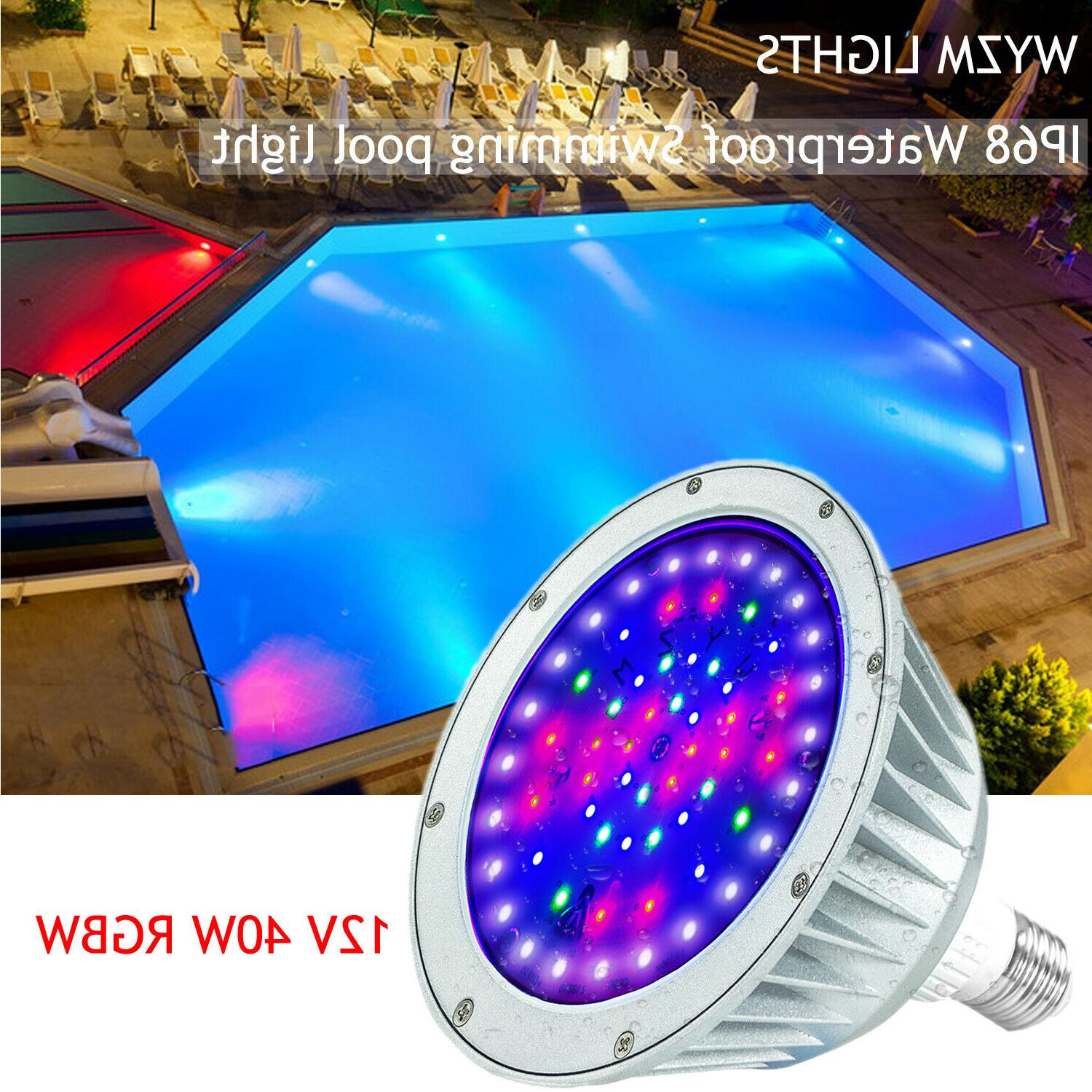 40w color changing led pool light