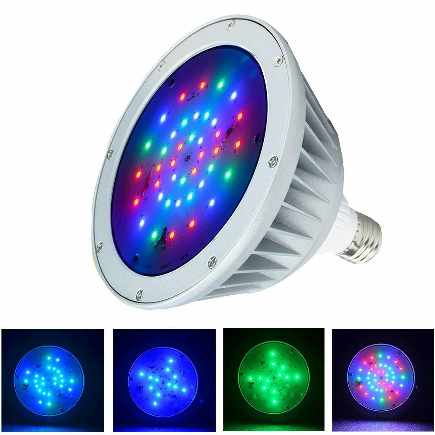12v 40w led color change replace swimming