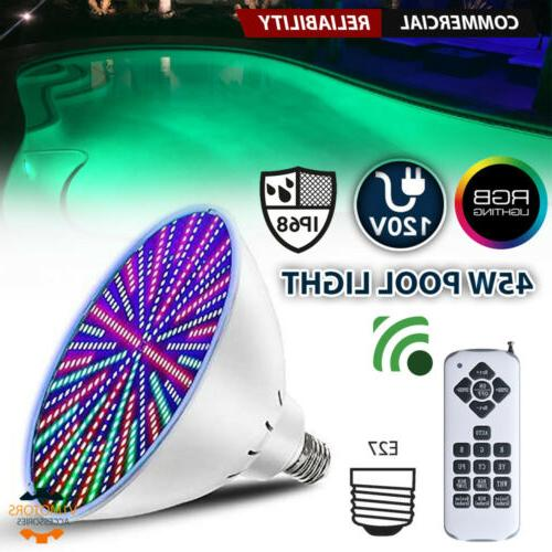 45w 120v rgb led color changing underwater
