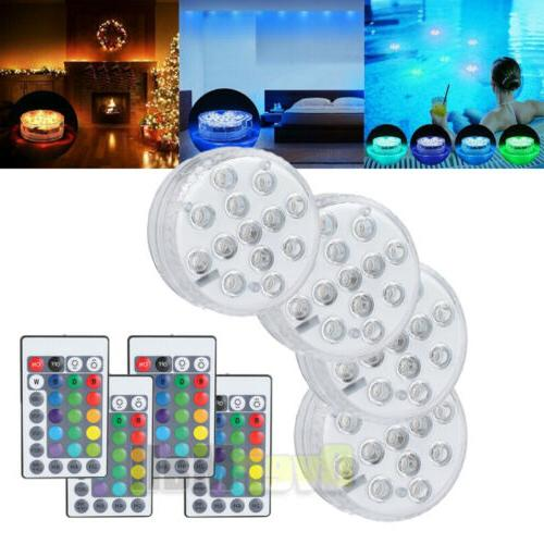 4 Piece Underwater Led with remote for Swimming tube