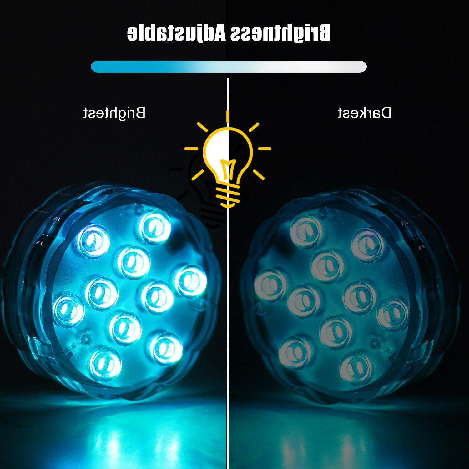 4PC RGB LED Underwater Color Lights &