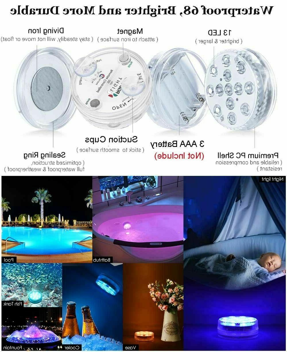 4pcs Swimming RGB LED Underwater Color Lamp w/