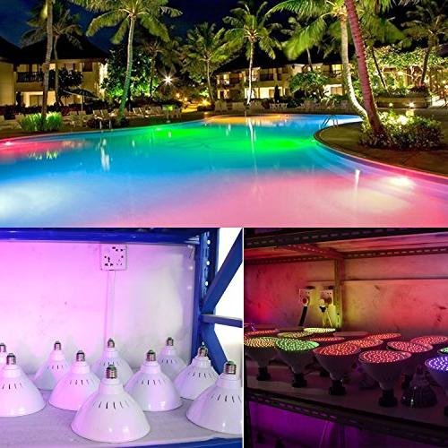 WYZM 120V Color 20Watt Pool Lights LED,300w Halogen Bulb Replacement, Swimming Light for Fixture