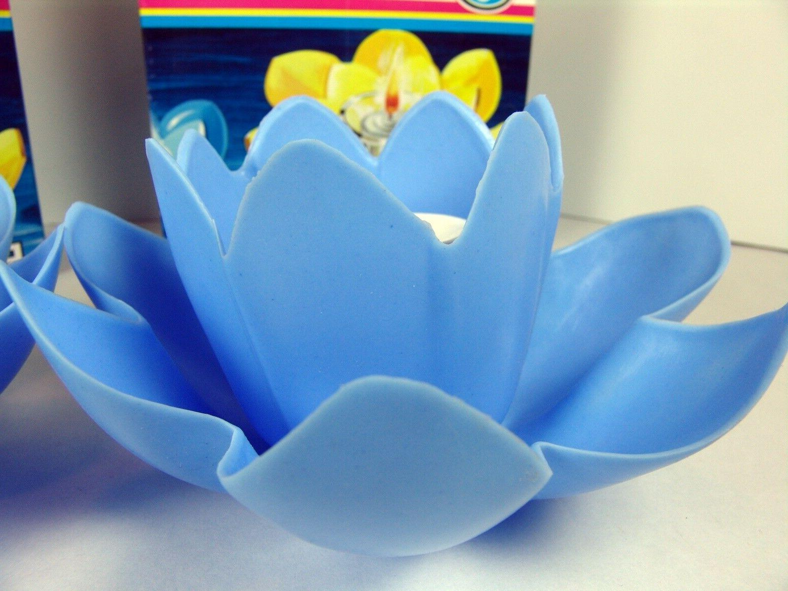 Floating Candle Pond Set Blue Wedding
