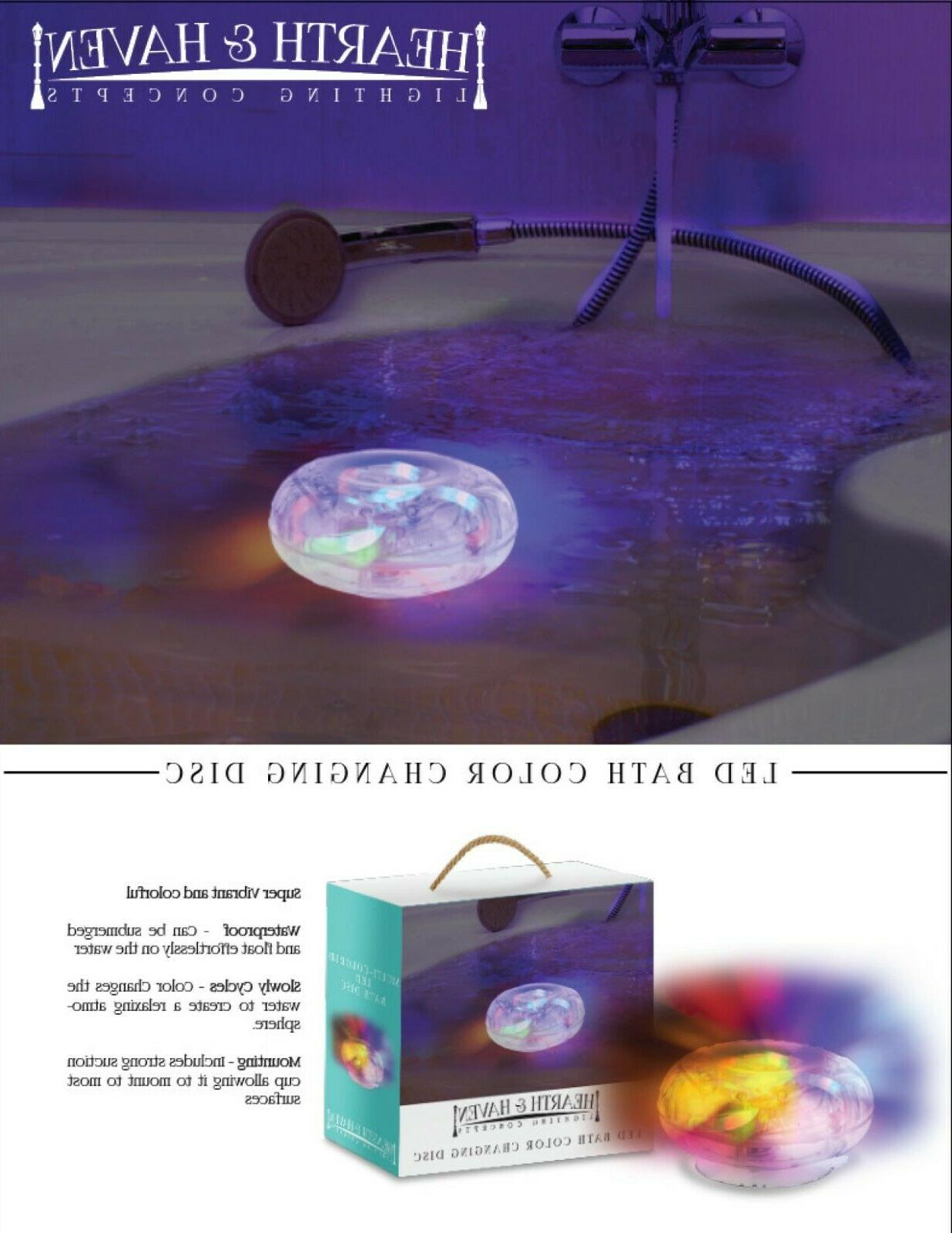 Hearth & Haven Changing Floating Disc Waterproof LED