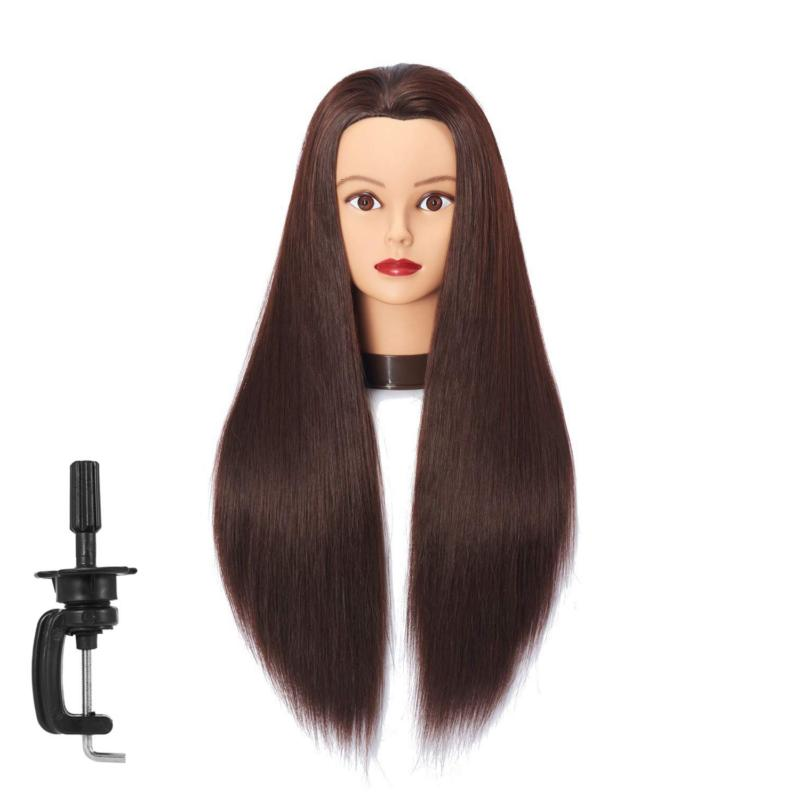 mannequin head with hair hairdresser training cosmetology