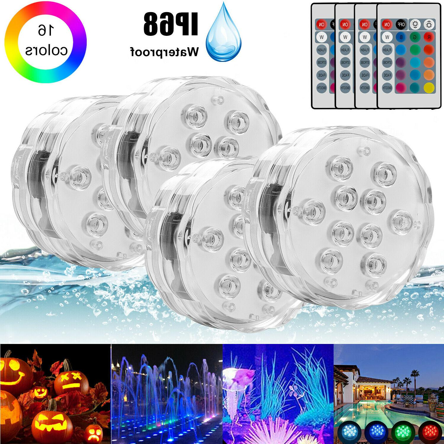 submersible led bulb underwater light fountain swimming