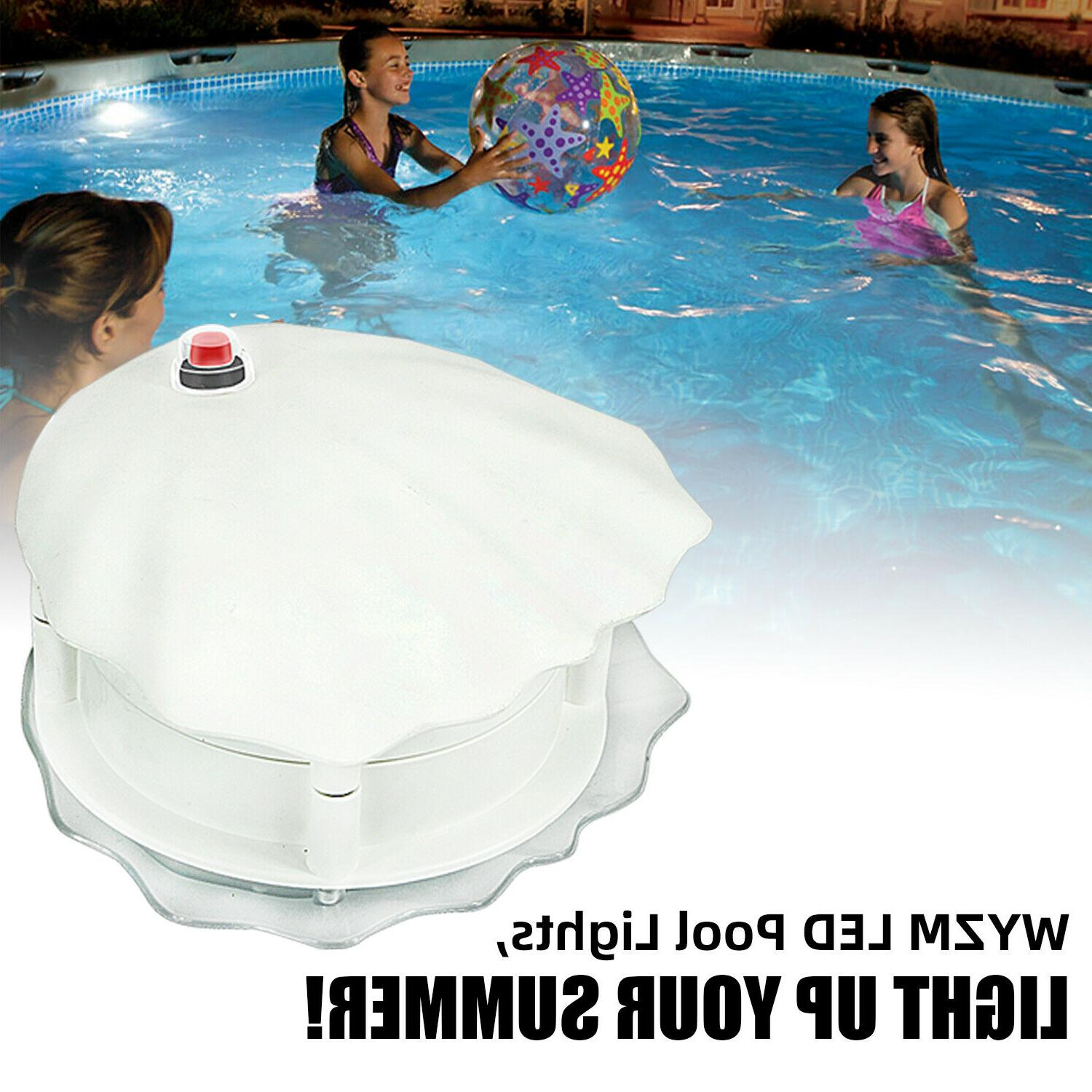 Multi Color LED Above Ground Underwater Light Magnetic Swimm