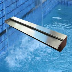 Marine Grade Stainless Steel Water Wall Pool Water Blade Spi