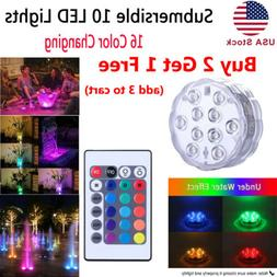 Multicolor LED Submersible Swimming Pool Light Remote Underw
