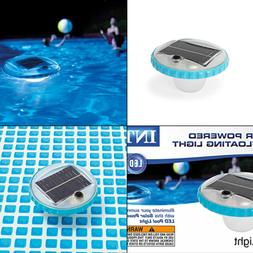 NEW - Floating LED Pool Light, Solar Powered with Auto-On at