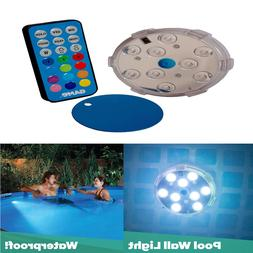 Pool Wall Light with Remote Control 3 Inch Waterproof Color