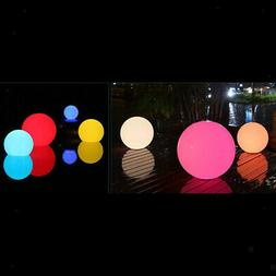 Round LED Floating Globe Floating Pool Light Solar Powered 8