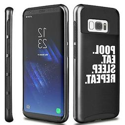 For Samsung S5 S6 S7 Edge S8 + Dual Shockproof Hard Case Poo