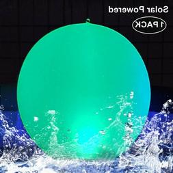"""Solar LED Lights Inflatable, 14"""" Floating Pool Lights Waterp"""