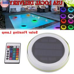 Solar Swimming Pool Lights Underwater Floating Fountain Show