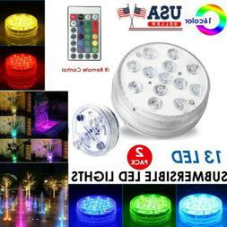 Underwater Submersible LED Lights RGB Swimming Pool Fountain