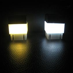 Waterproof Solar Powered Fence Post Pool LED Square Light fo
