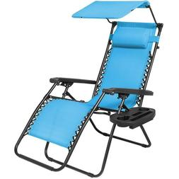 Zero Gravity Chair With Canopy For Outdoor Summer Pool Beach